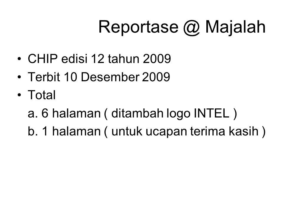 Reportase @ Majalah CHIP edisi 12 tahun 2009 Terbit 10 Desember 2009 Total a.