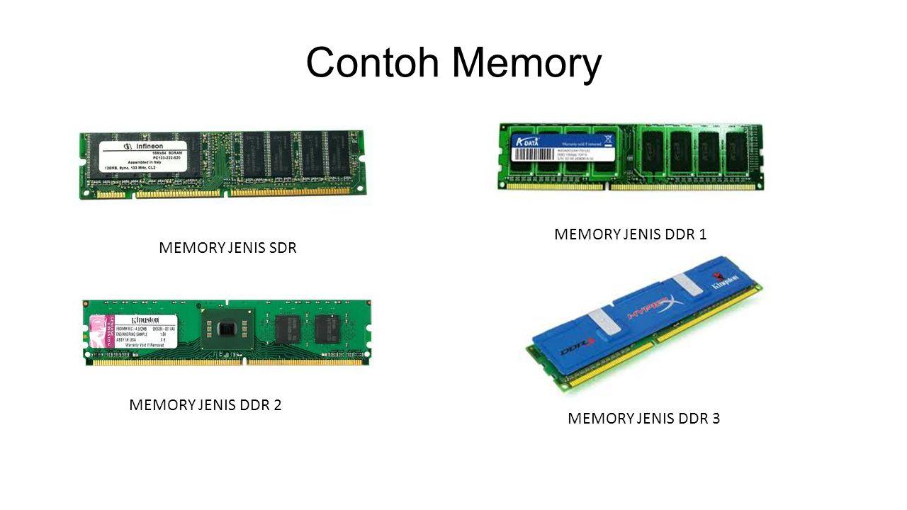 Contoh Memory MEMORY JENIS SDR MEMORY JENIS DDR 1 MEMORY JENIS DDR 2 MEMORY JENIS DDR 3