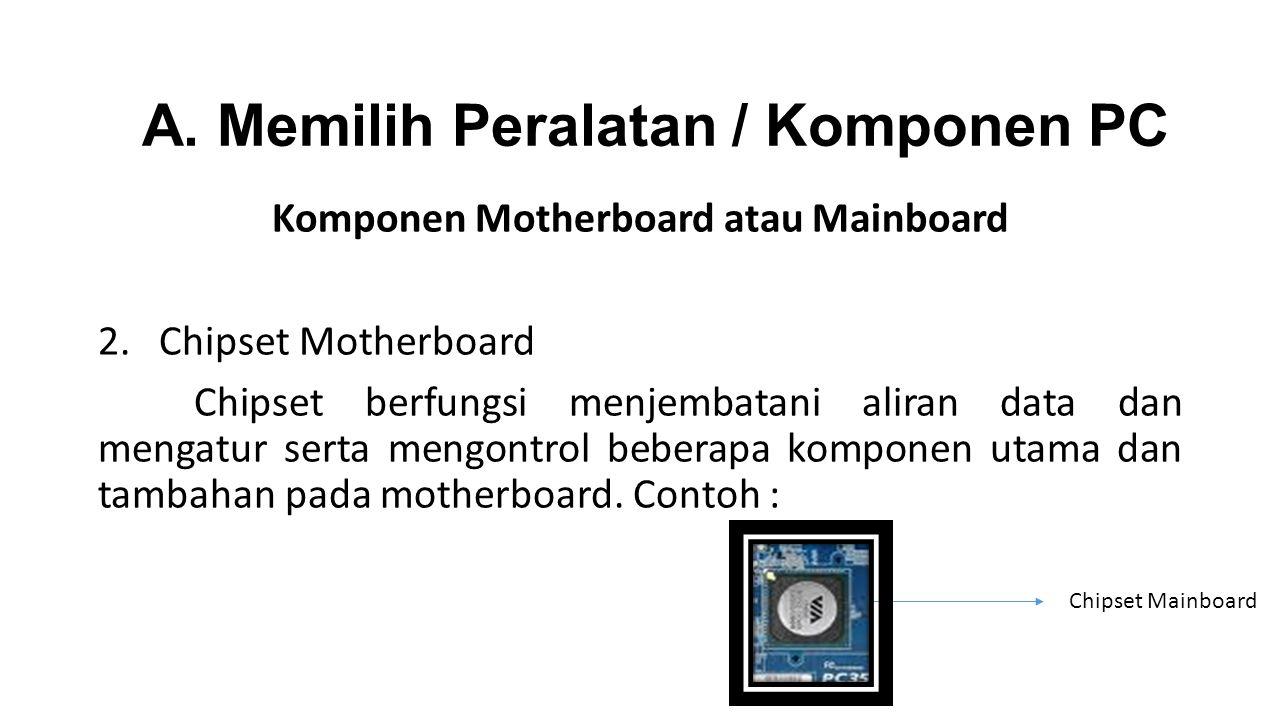 Komponen Motherboard atau Mainboard 2.