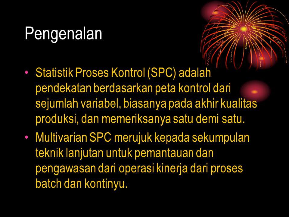 Pengenalan Statistik Proses Kontrol (SPC) adalah pendekatan berdasarkan peta kontrol dari sejumlah variabel, biasanya pada akhir kualitas produksi, da