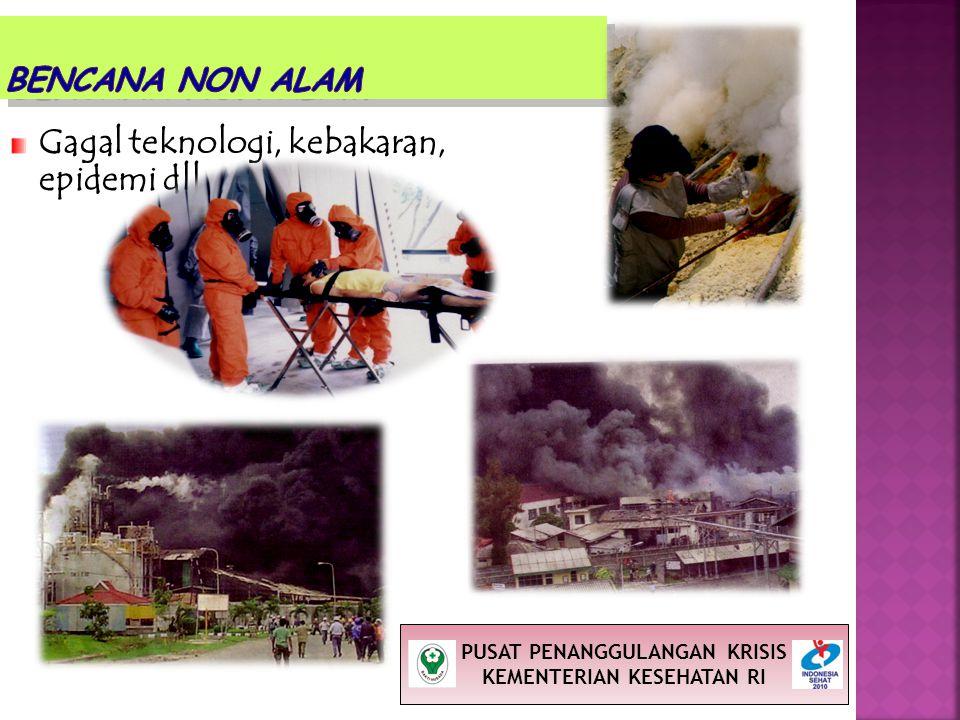 Gagal teknologi, kebakaran, epidemi dll PUSAT PENANGGULANGAN KRISIS KEMENTERIAN KESEHATAN RI