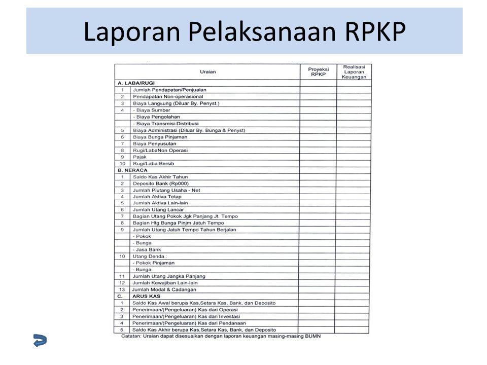 Laporan Pelaksanaan RPKP