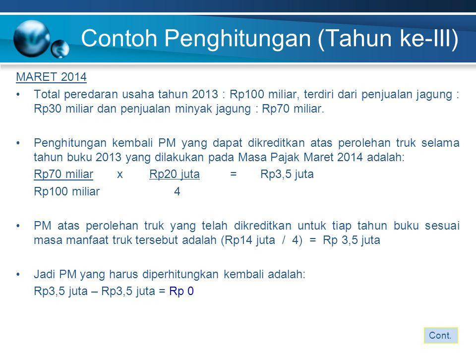 MARET 2014 Total peredaran usaha tahun 2013 : Rp100 miliar, terdiri dari penjualan jagung : Rp30 miliar dan penjualan minyak jagung : Rp70 miliar. Pen