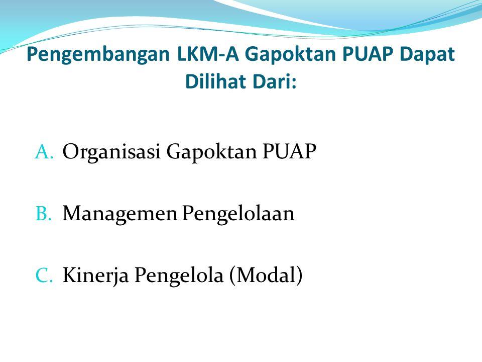 Pengembangan LKM-A Gapoktan PUAP Dapat Dilihat Dari: A.