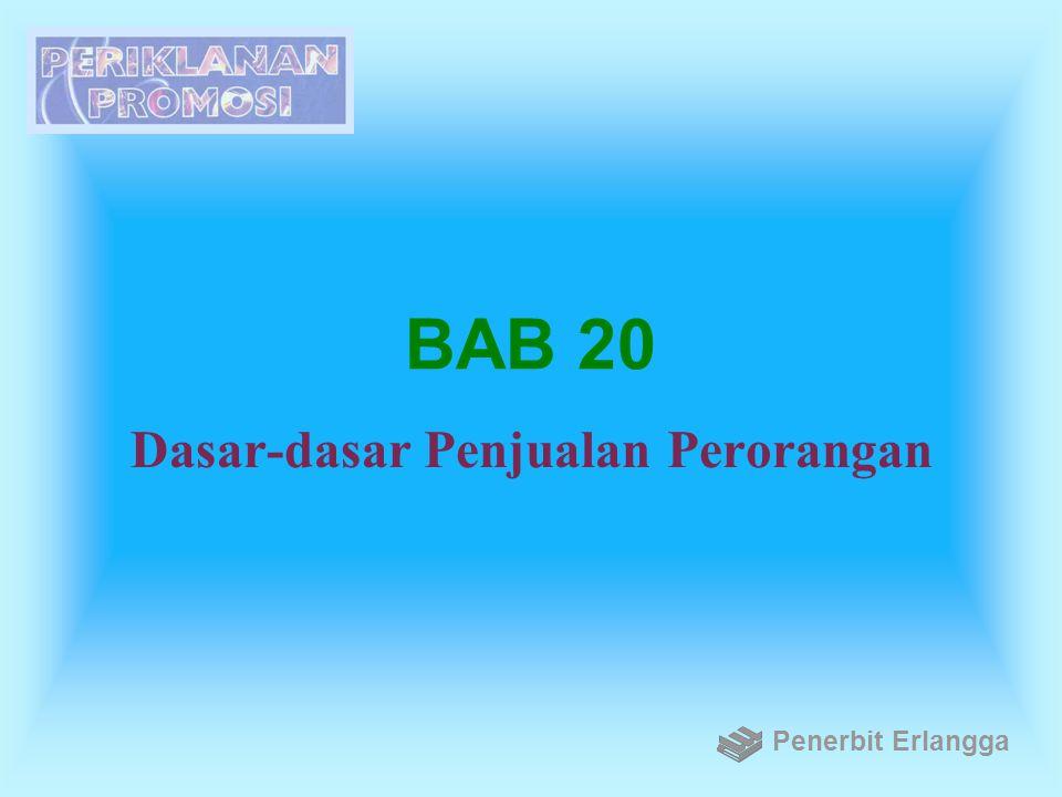 BAB 20 Dasar-dasar Penjualan Perorangan Penerbit Erlangga