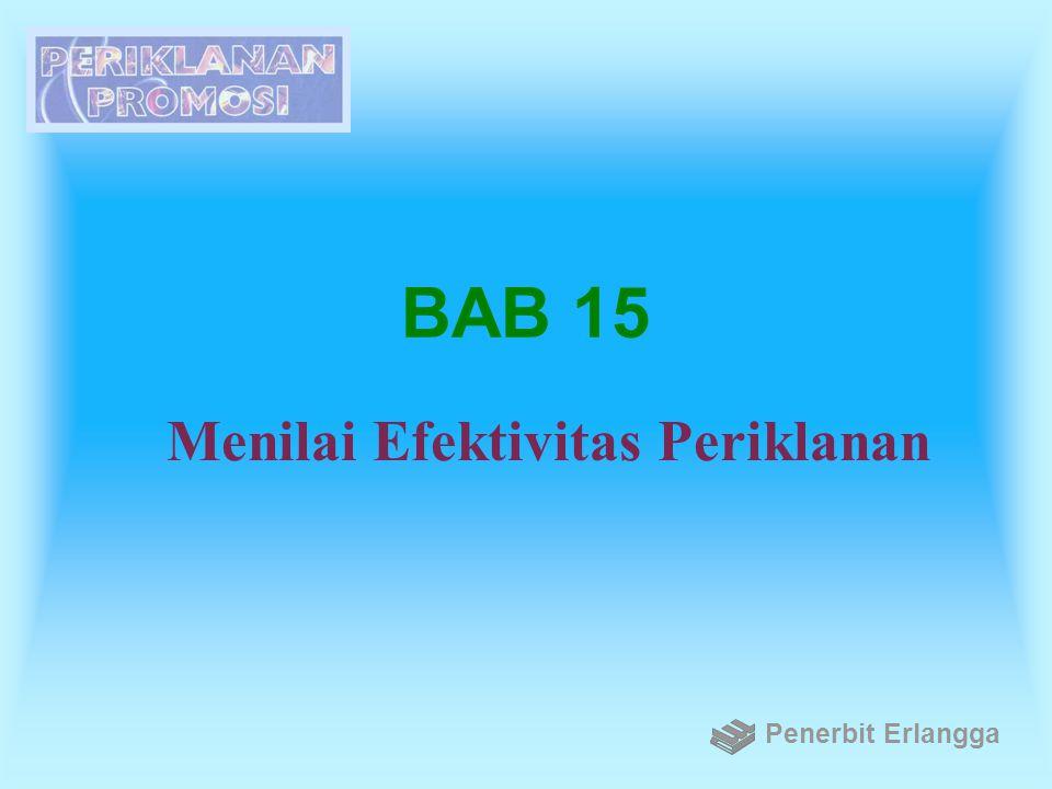 BAB 15 Menilai Efektivitas Periklanan Penerbit Erlangga