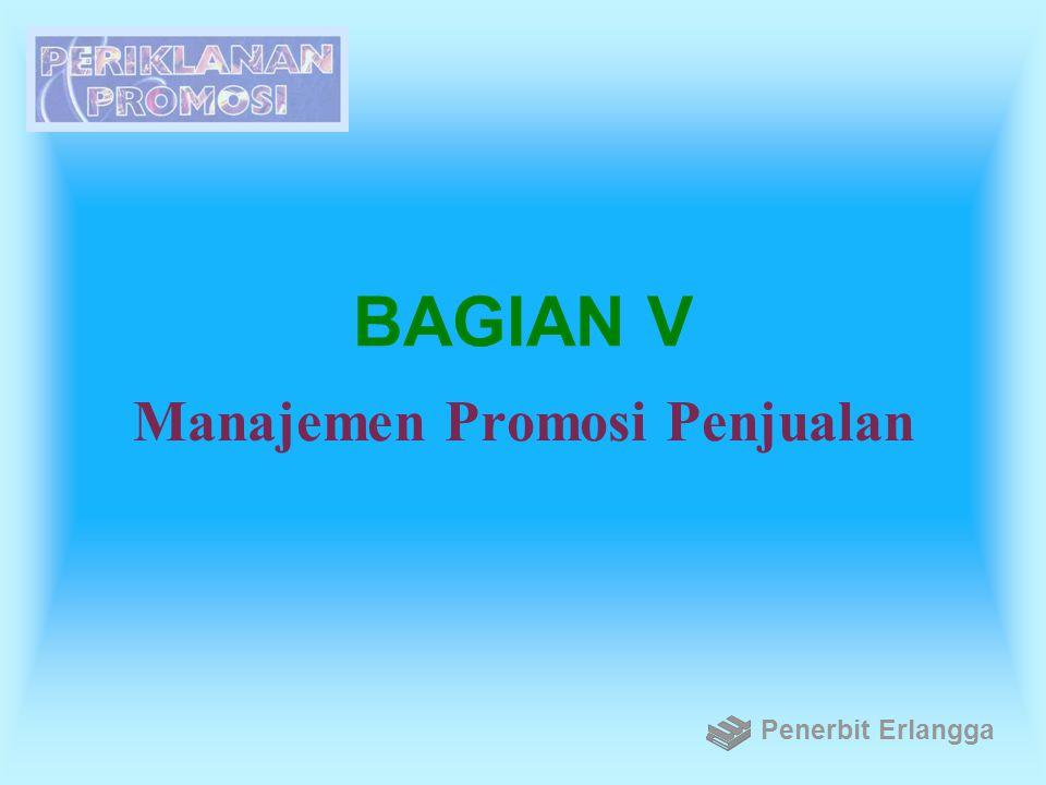 BAGIAN V Manajemen Promosi Penjualan Penerbit Erlangga