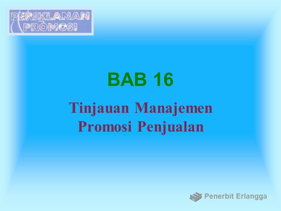 BAB 16 Tinjauan Manajemen Promosi Penjualan Penerbit Erlangga