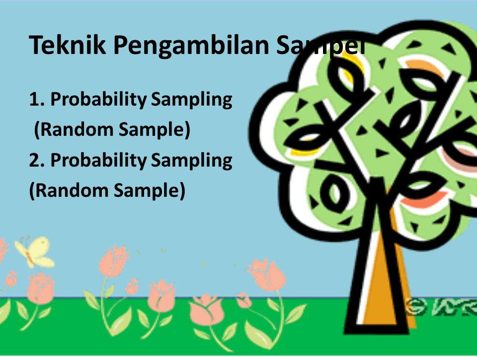 Teknik Pengambilan Sampel 1. Probability Sampling (Random Sample) 2. Probability Sampling (Random Sample)