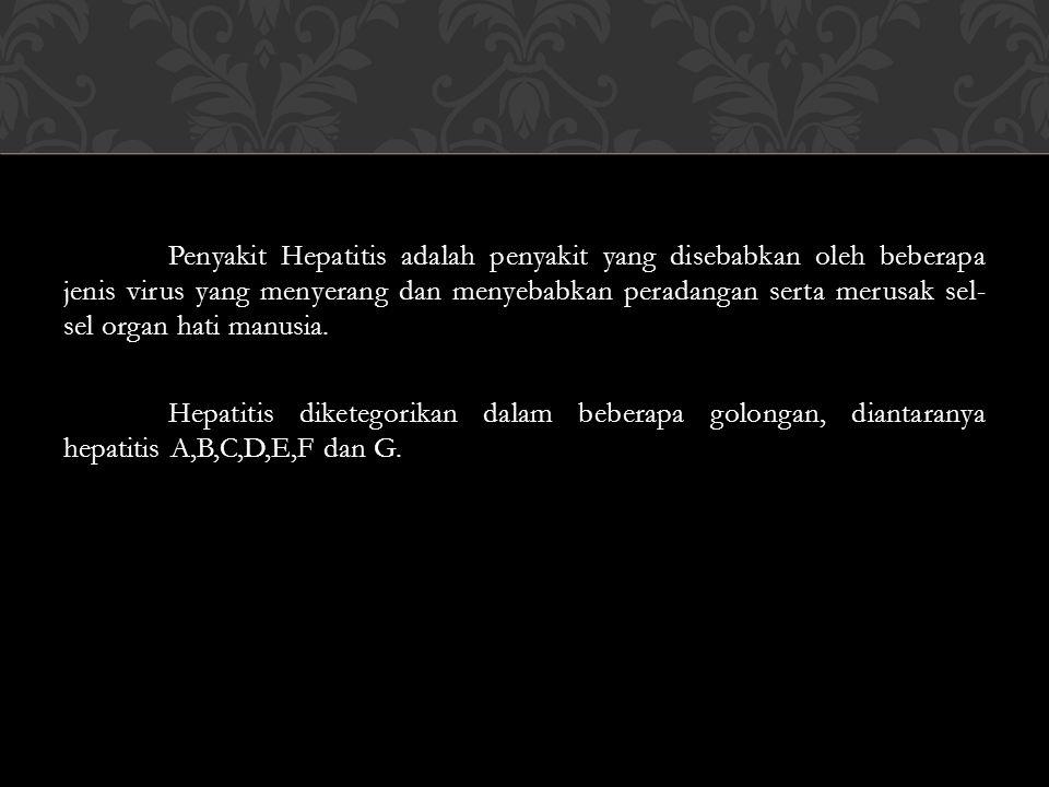 Hepatitis A adalah golongan penyakit Hepatitis yang ringan dan jarang sekali menyebabkan kematian.