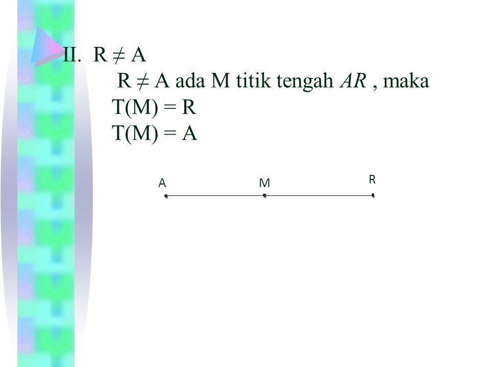 b.Ambil dua titik sembarang misalnya P dan Q ≠ V sehingga T (P) = T (Q).