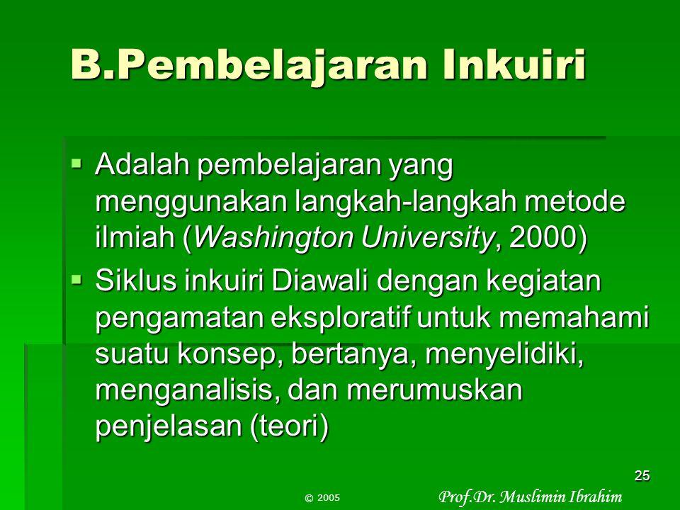 Prof.Dr. Muslimin Ibrahim © 2005 24 Contoh