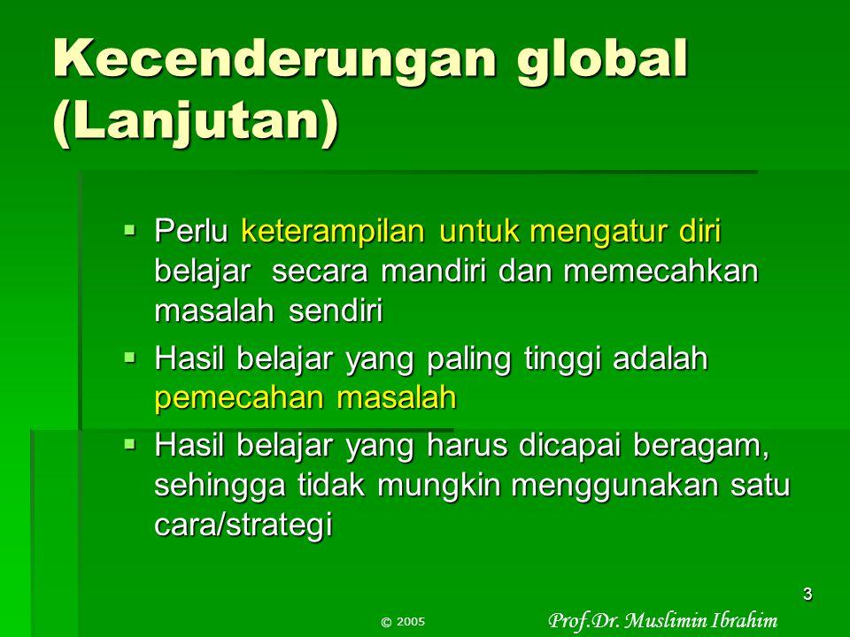 """Prof.Dr. Muslimin Ibrahim © 2005 2 Latar Belakang 1.Kecenderungan global  Terlalu banyak informasi  Terlalu sedikit waktu  Penyajian """"informasi jad"""