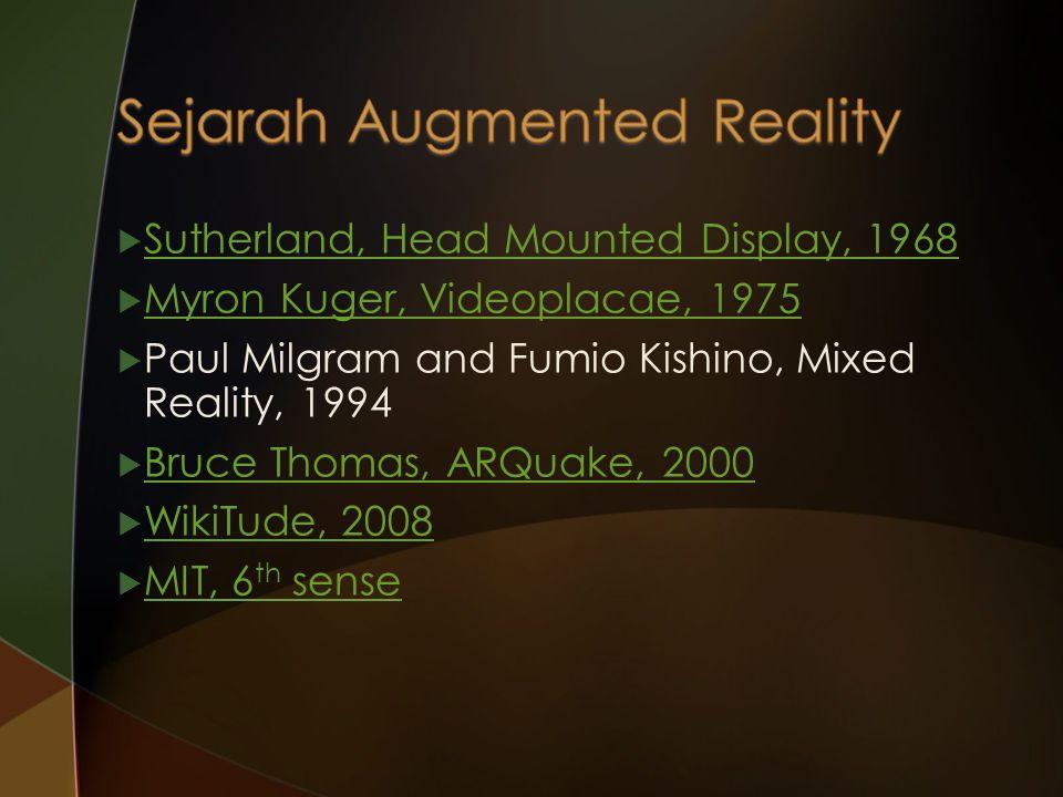  VR pengguna ditenggelamkan dalam dunia virtual biasanya dengan memasang perangkat pada indra-indra dari pengguna tanpa melihat dunia nyata.