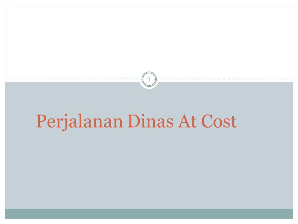 Perjalanan Dinas At Cost 1