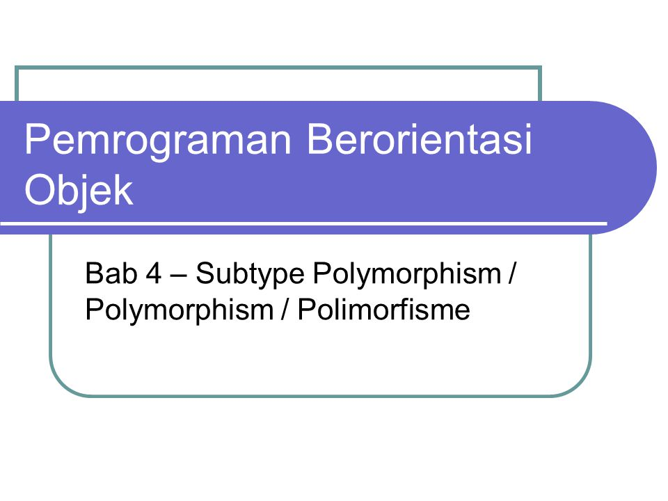 Polymorphism Is the ability to create a variable, a function, or an object that has more than one form.
