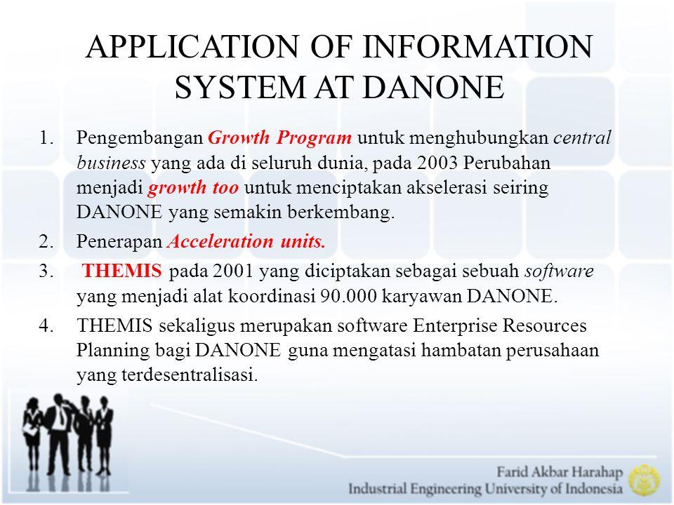 The Human Connection The Networking Attitude The Networking Attitude merupakan sebuah bentuk information system dengan jaringan intranet yang menghubungkan setiap karyawan DANONE yang ada diseluruh dunia.