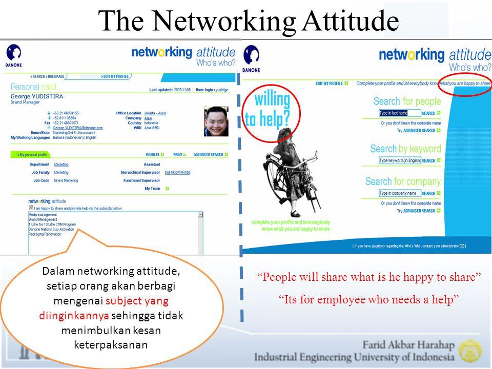 THE ADVANTAGES OF NETWORKING ATTITUDE DANONE INFORMATION SYSTEM TO SHARE KNOWLEDGE Berikut adalah keuntungan yang diperoleh DANONE dalam penerapan information systemnya guna dalam hal managing knowledge yang menggunakan networking attitude