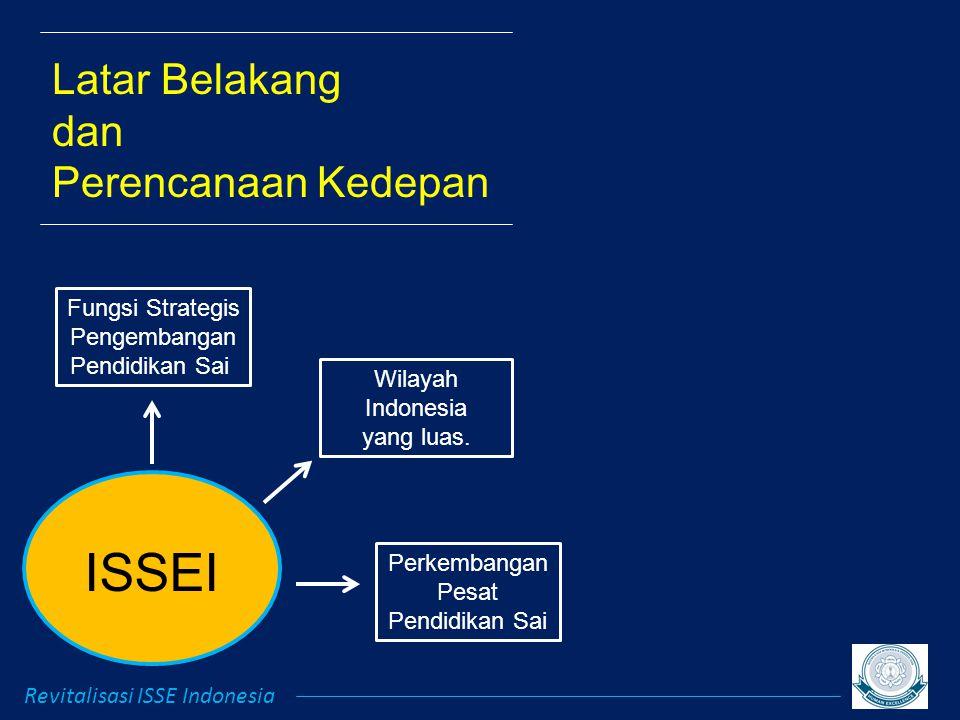 ISSEI Revitalisasi ISSE Indonesia Latar Belakang dan Perencanaan Kedepan Fungsi Strategis Pengembangan Pendidikan Sai Wilayah Indonesia yang luas.