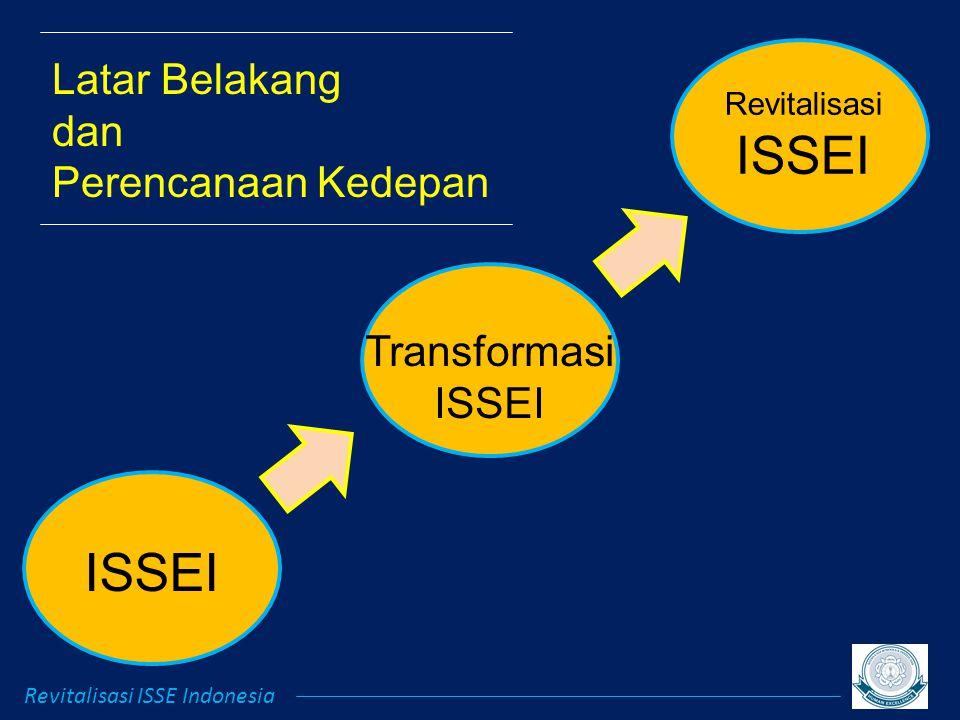 Revitalisasi ISSEI Transformasi ISSEI Latar Belakang dan Perencanaan Kedepan Revitalisasi ISSE Indonesia