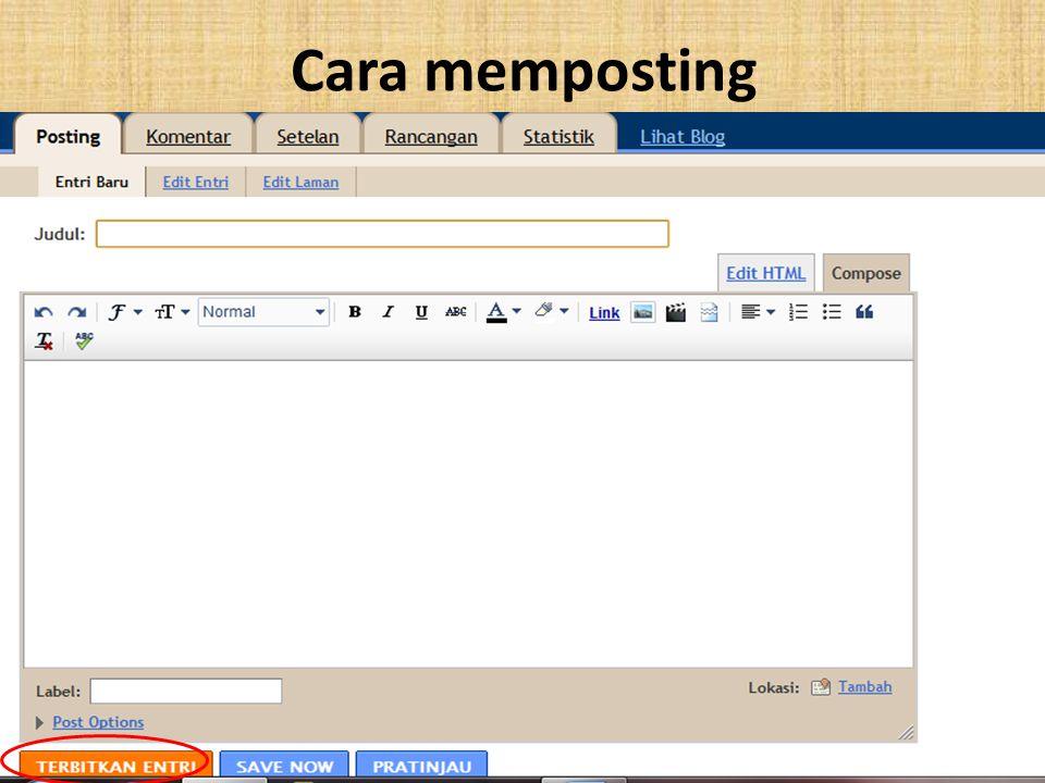 Cara memposting