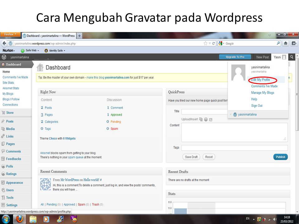 Cara Mengubah Gravatar pada Wordpress