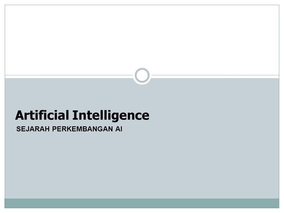 Artificial Intelligence SEJARAH PERKEMBANGAN AI