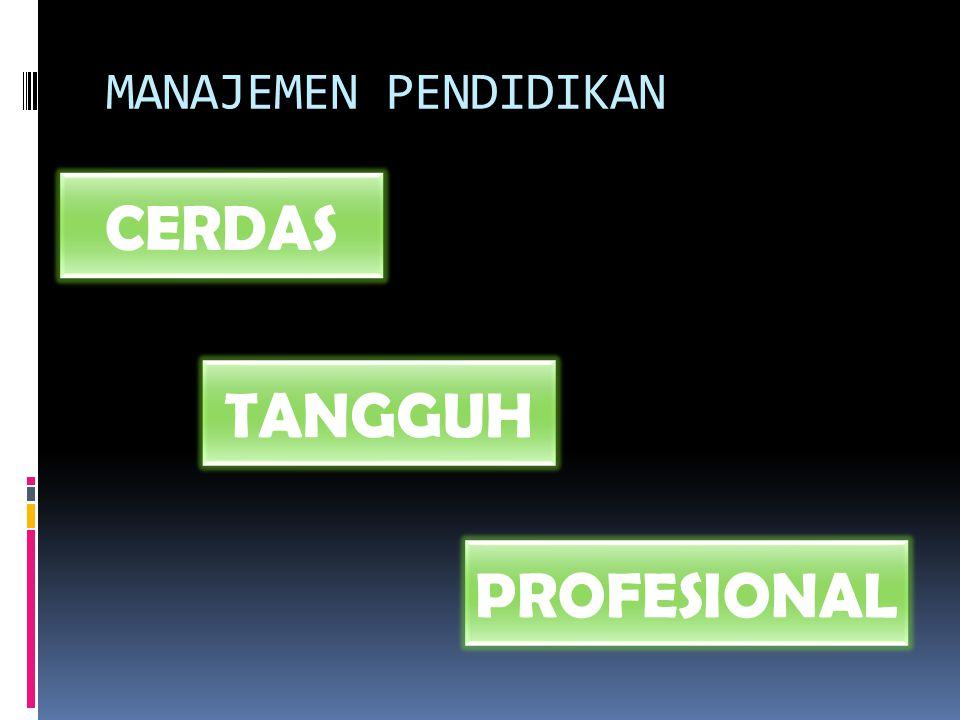 MANAJEMEN PENDIDIKAN CERDAS TANGGUH PROFESIONAL