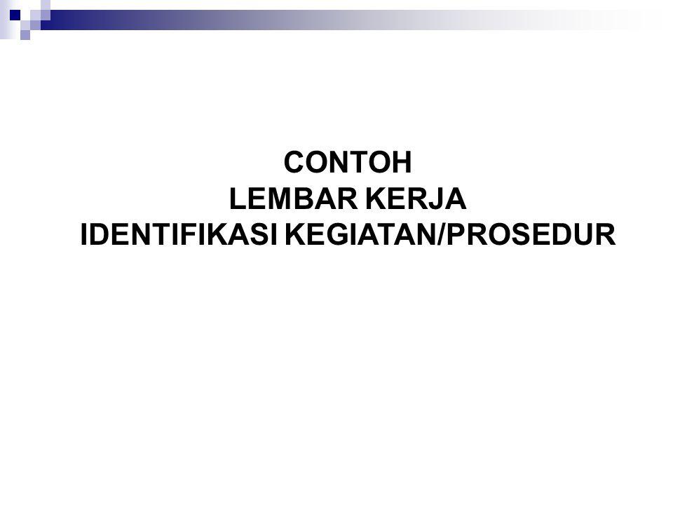 CONTOH LEMBAR KERJA IDENTIFIKASI KEGIATAN/PROSEDUR