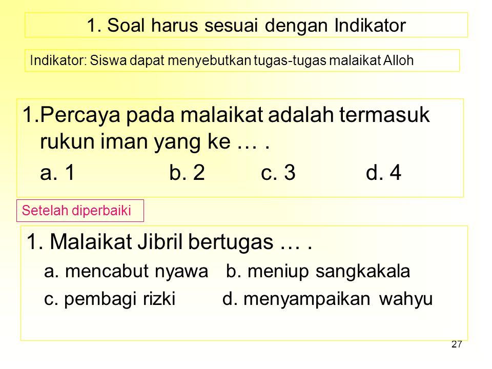 26 PEDOMAN PENSKORAN No.Kunci/Kriteria jawaban/Aspek yang dinilaiSkor Skor maksimum= ……