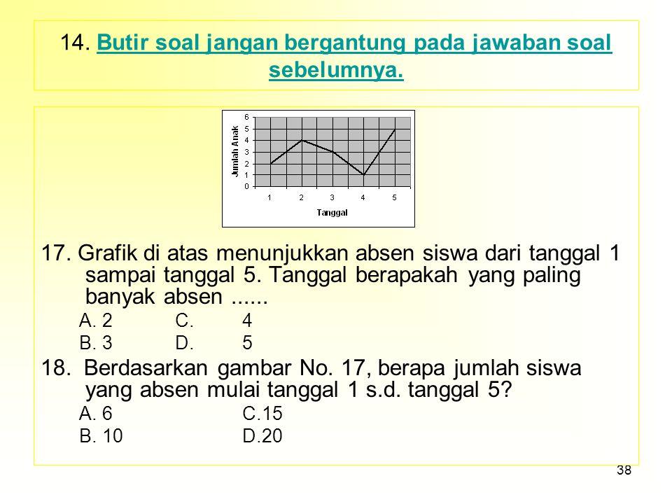 37 15.Jawaban yang menggunakan angka, waktu disusun naik (Ascending) atau turun (Discending) 15.