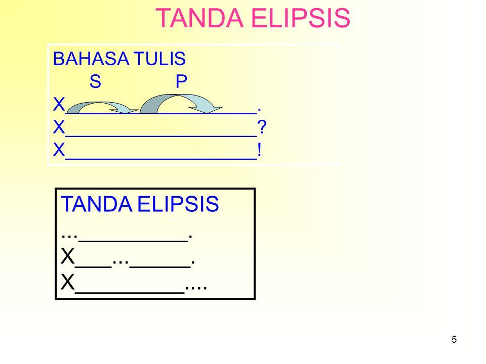 5 TANDA ELIPSIS BAHASA TULIS S P X__________________.