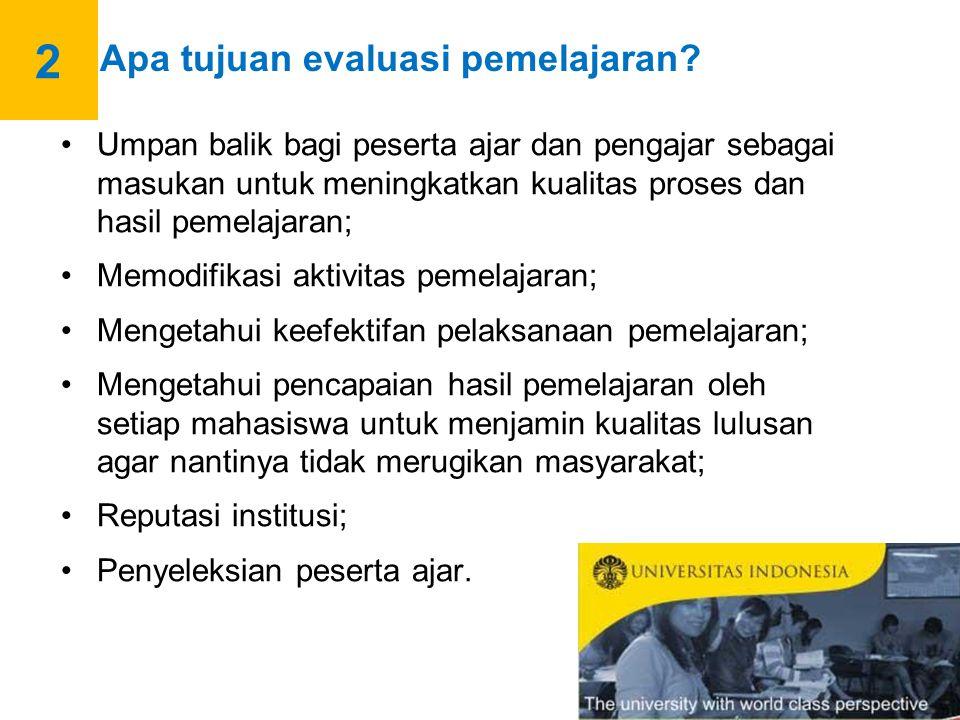 a.Peserta Ajar: Kegiatan pemelajaran Hasil belajar b.