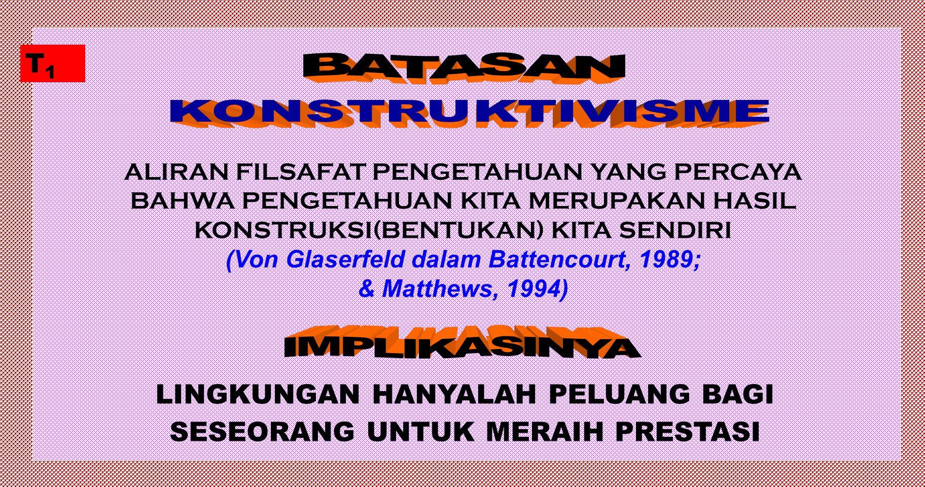 1.Menjelaskan hakikat filsafat konstruktivisme 2.Menjelaskan posisi konstruktivisme dalam aliran filsafat dan teori belajar 3.Menjelaskan peran pendek