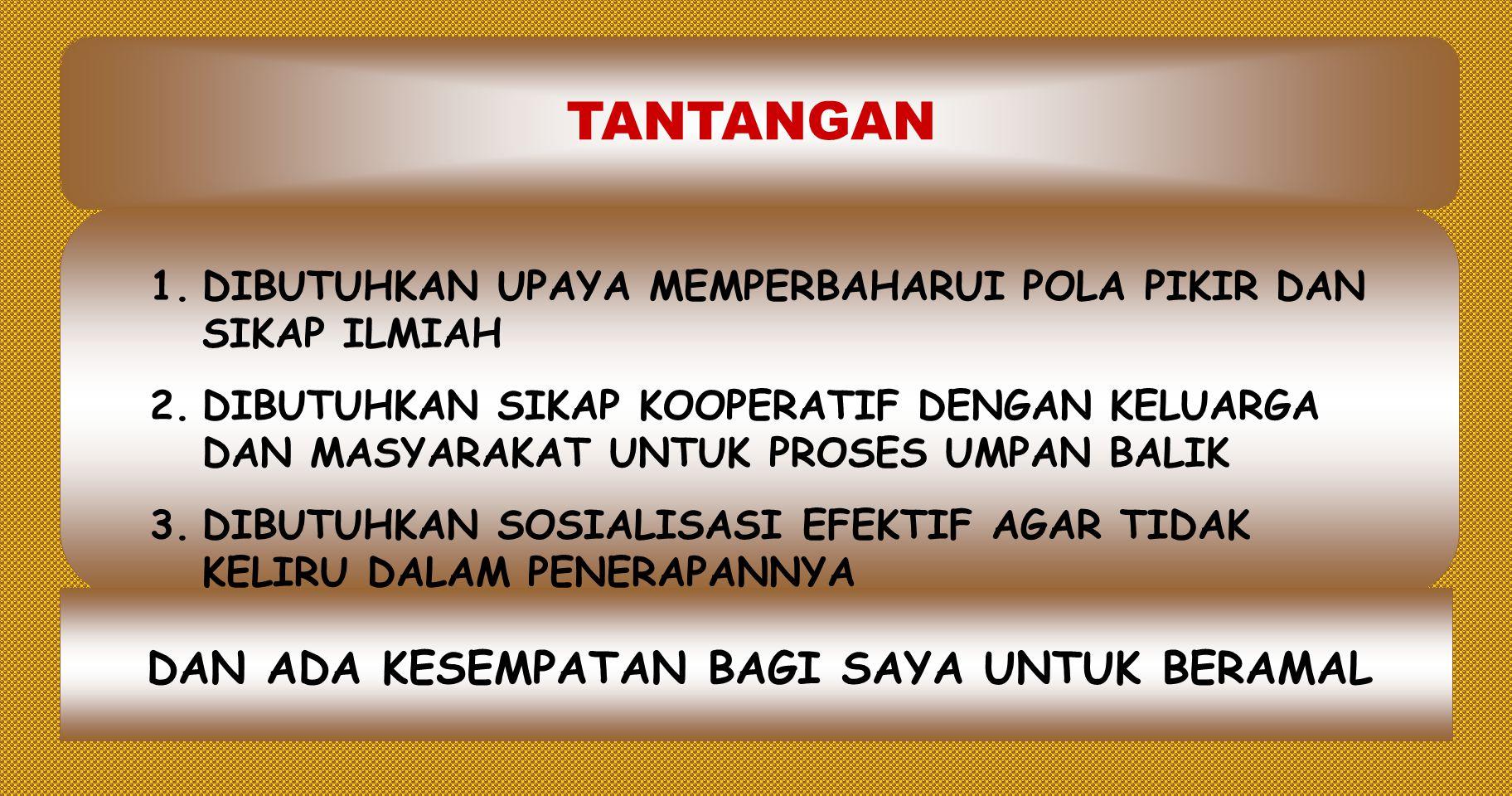 1.MOMENTUM INOVASI PENDIDIKAN DALAM DALAM MEWUJUDKAN ERA REFORMASI 2.SUMBER BELAJAR TERSEDIA LUAS DI PASARAN 3.TEKNOLOGI PENDIDIKAN MAKIN BERKEMBANG DAN TERSEDIA LUAS 4.KECENDERUNGAN PERSAINGAN INDIVIDUAL YANG BEBAS DAN SPORTIF 5.DIBUTUHKAN PEMBINAAN SIKAP PRODUKTIF DAN NILAI DIDIK LAINNYA.