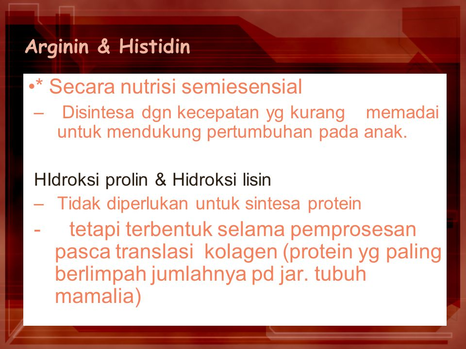 SISTEIN (non essensial) metionin (esensial) serin (non esensial)