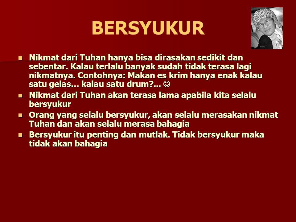 SYARAT BERSYUKUR 1.