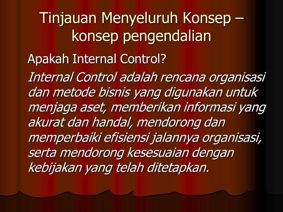 Tinjauan Menyeluruh Konsep – konsep pengendalian Apakah Internal Control.
