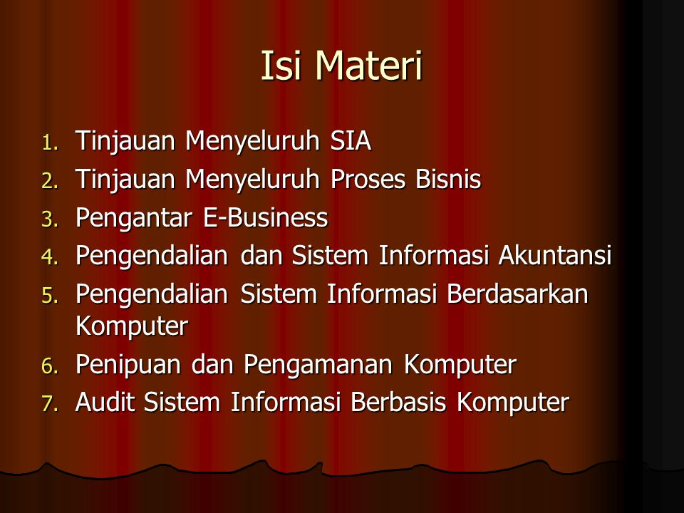 Integritas : Pengendalian pemrosesan dan penyimpanan data Termasuk :  Kebijakan dan Prosedur  Fungsi pengendalian Data  Prosedur Rekonsiliasi  Rekonsiliasi data eksternal  Pelaporan penyimpangan  Pemeriksaan sirkulasi data  Pencocokan data  Label file  Mekanisme perlindungan penulisan  Mekanisme perlindungan database  Pengendalian Konversi data  Pengamanan data