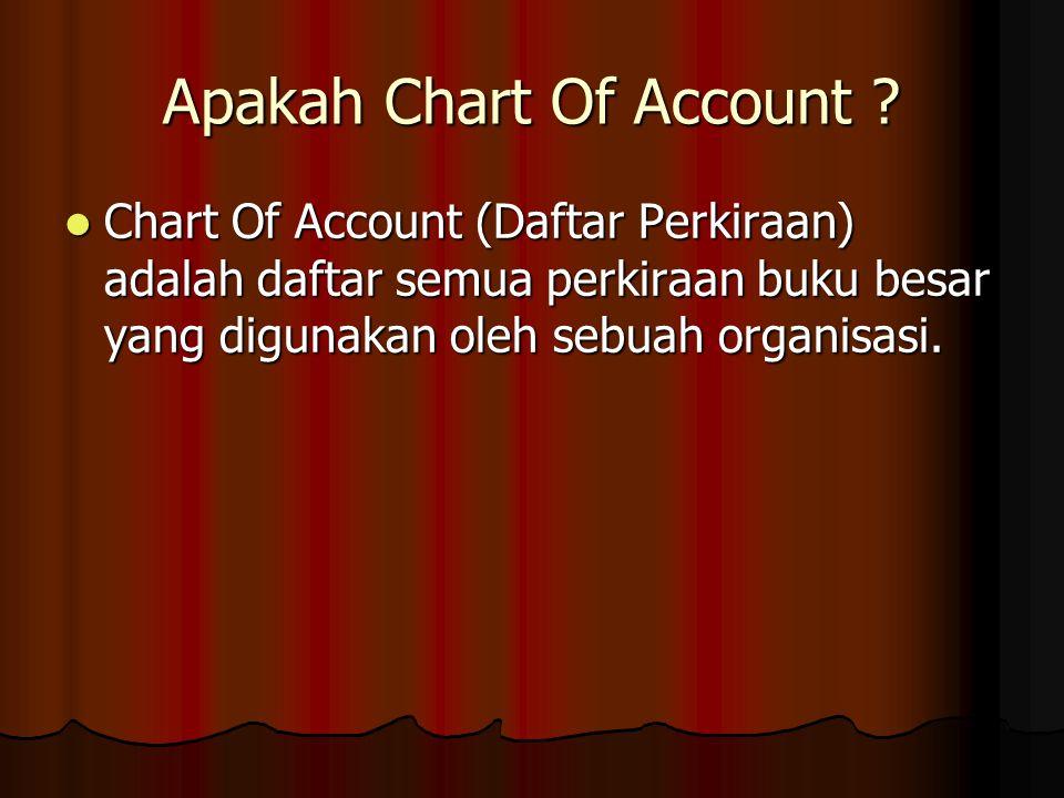 Apakah Chart Of Account .