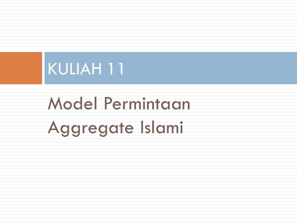 Model Permintaan Aggregate Islami KULIAH 11