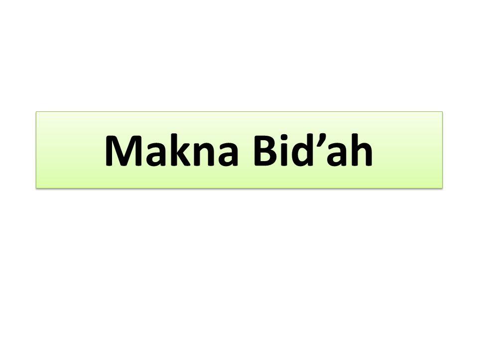 Makna Bid'ah