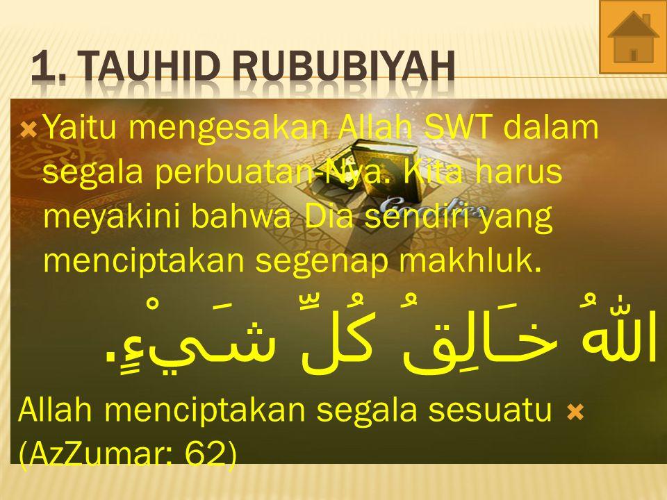  Menyakini Allah Swt Memiliki nama-nama yang muliah dan sifat-sifat.