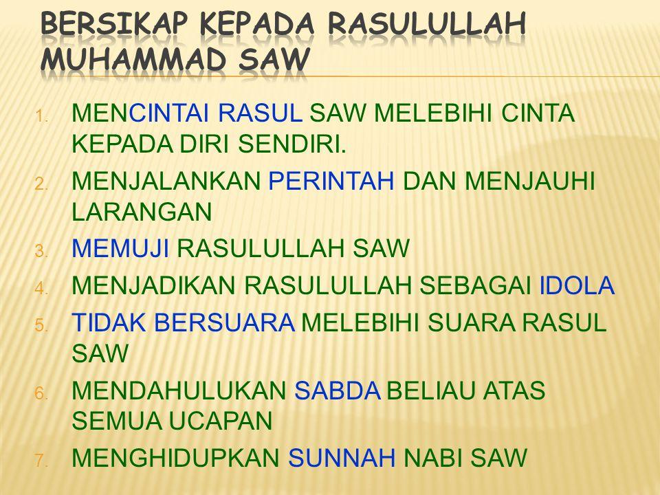 1.qana'ah : menerima (mensyukuri) apa adanya 2. Tawadhu' : rendah hati 3.