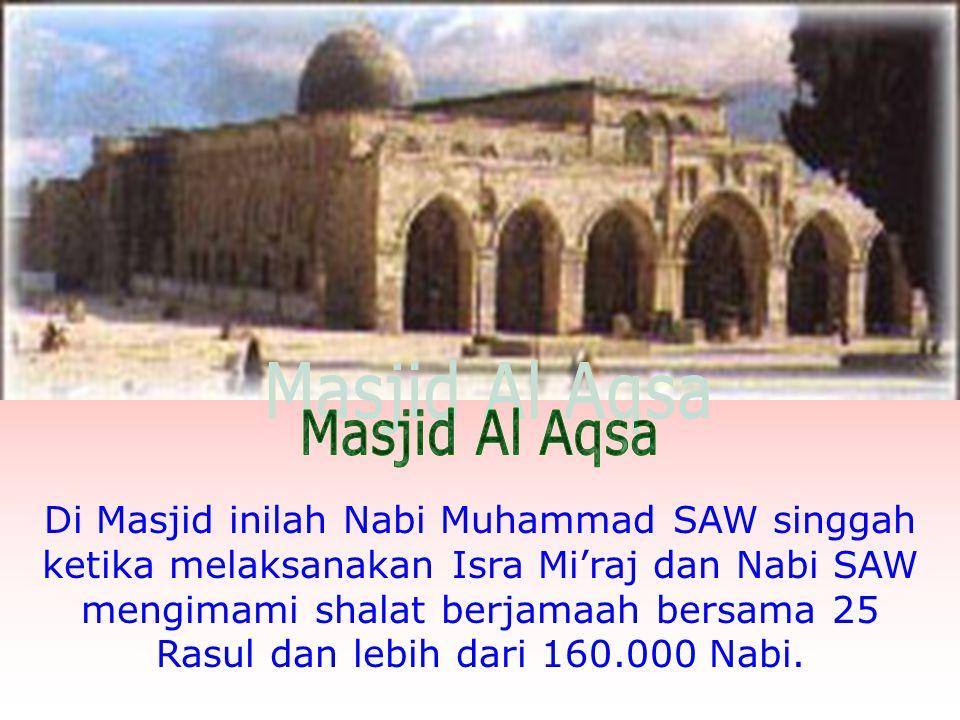 Inilah gambar sebenarnya Masjid Al Aqsa Masjid ini disebut oleh Rasulullah SAW dalam Hadits sebagai Masjid Biru karena mempunyai Kubah berwarna biru.