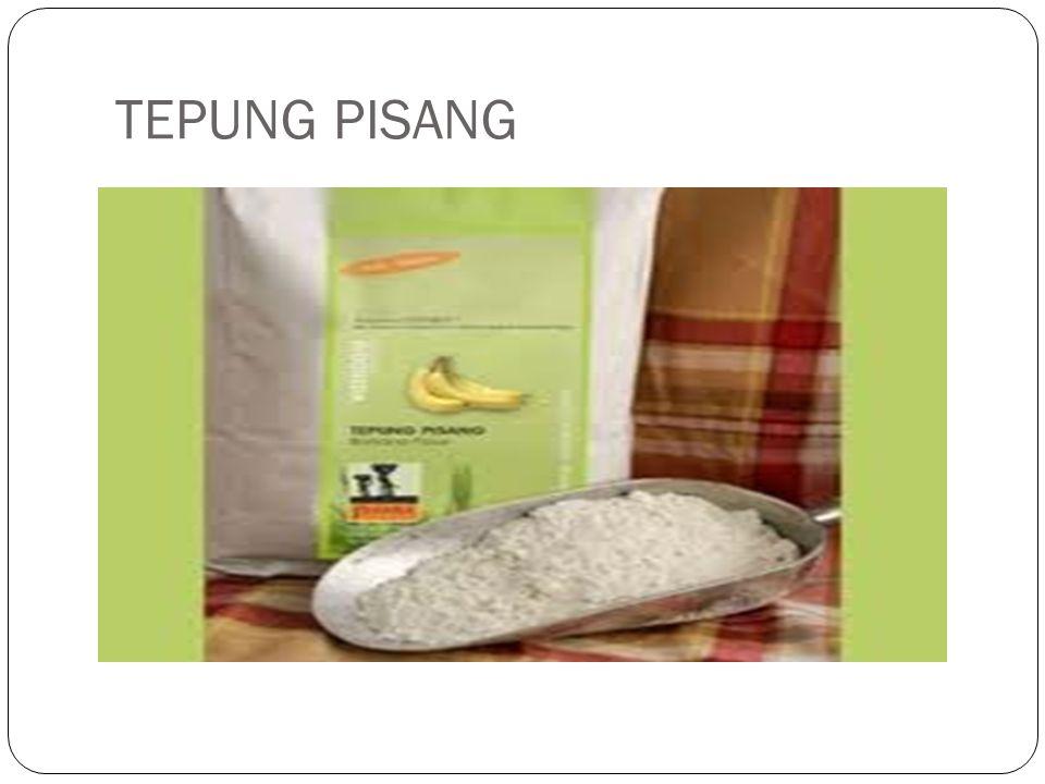 Tepung pisang adalah salah satu cara pengawetan pisang dalam bentuk olahan.Cara membuatnya mudah, sehingga dapat diterapkan di daerah perkotaan maupun pedesaan.