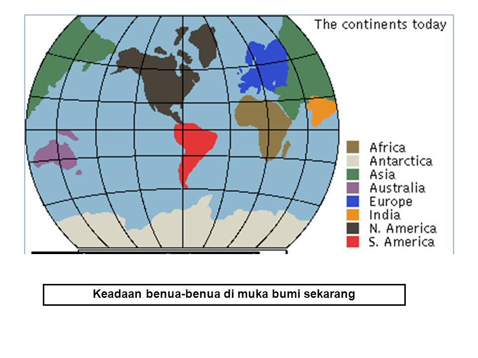 Keadaan benua-benua di muka bumi sekarang