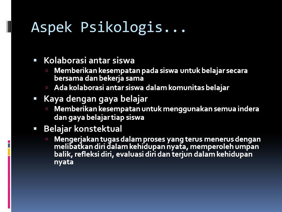 Aspek Psikologis...