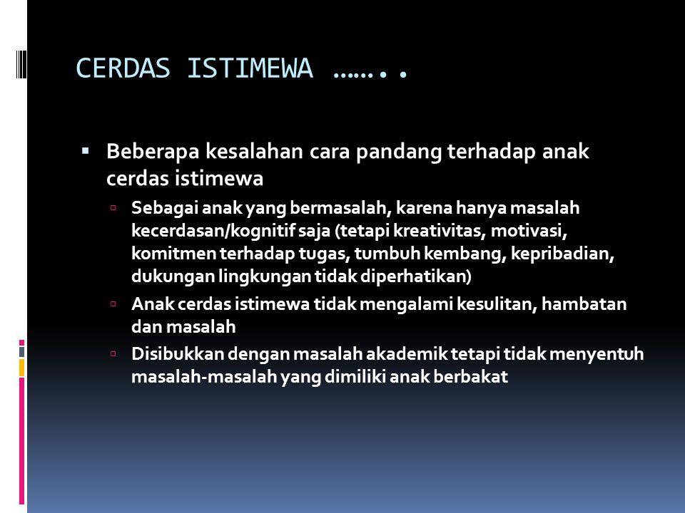 CERDAS ISTIMEWA ……..