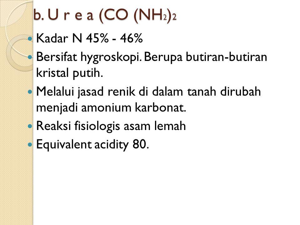  Kandungan hara : 21 % - 30% K 2 O  Kandungan MgO ; 6%  Reaksi Fisiologis asam lemah